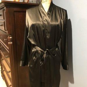 Black Satin Victoria's Secret Robe
